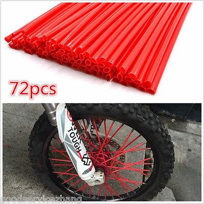 Motocross Dirt Bike Enduro Wheel Rim Spoke Skins Cover FOR Accurate Cycle RED