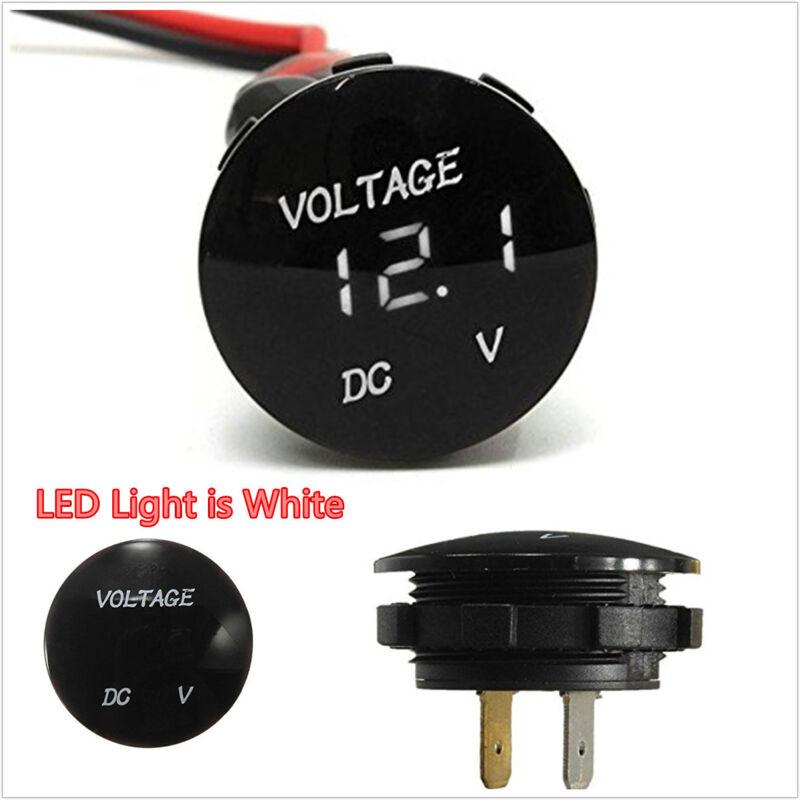 DC12V Mini White LED Digital Display Car SUV Panel Voltmeter Voltage Gauge Meter
