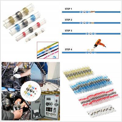 300 Pcs Waterproof Solder Seal Heat Shrink 2:1 Wire Butt Terminal Connectors Kit