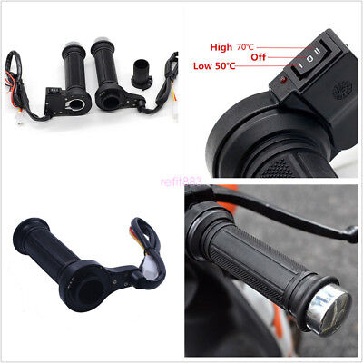 "22mm 7/8"" Motorcycle Electric Hand Heated Molded Grips ATV Warmers Hot Handlebar"