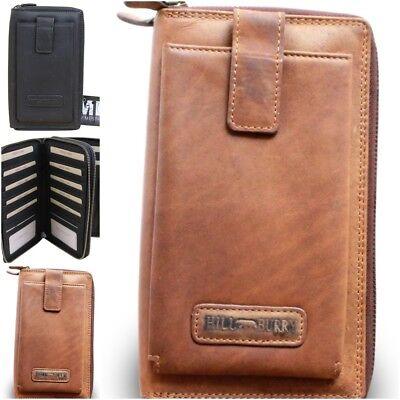 Leder Reise-brieftasche (Hill Burry Leder Organizer Kreditkartenetui Reisebrieftasche Flug Brieftasche  )