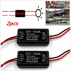 2x Flash Strobe Controller Flasher Module LED Brake Light Tail Stop Light US