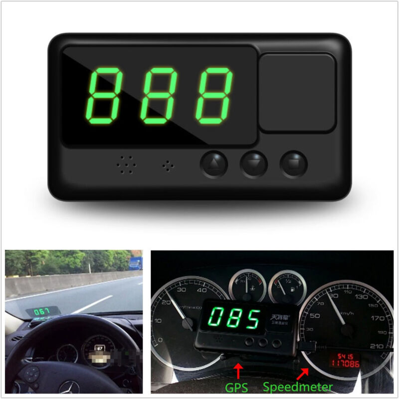 Autos HUD GPS Digital Speedometer Head UP Display Projection Overspeed Alarm Kit