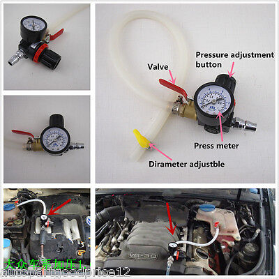 Universal Car Radiator Leak Pressure Tester Water Tank Detector Checker Tool Kit