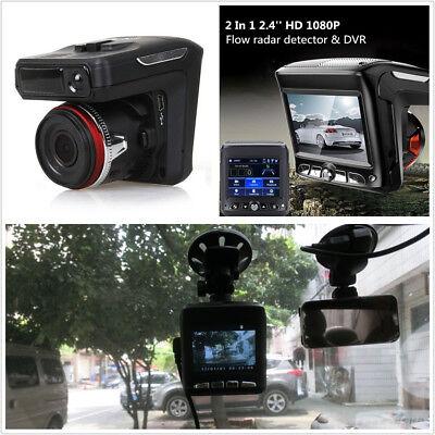 2In1 2.4''TFT LCD HD Car Video Camera Recorder Dash Cam Radar Speed Detector DVR