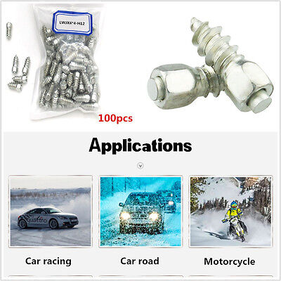 100pcs Screw in Snow Stud for Car/Truck/ATV Carbide tips with steel body L=12mm  ()