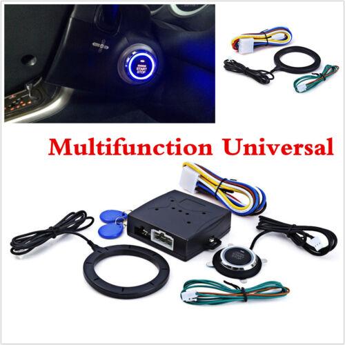 Keyless Entry Car Engine Push Stop Start Button RFID Lock Ignition Starter Alarm