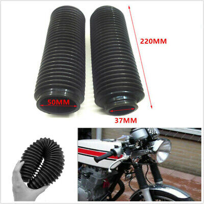 2Pcs Motorcycle Front Fork Cover Protector Gaiters Boot Shock Rubber 200x37x50mm - Hunter Boot Covers