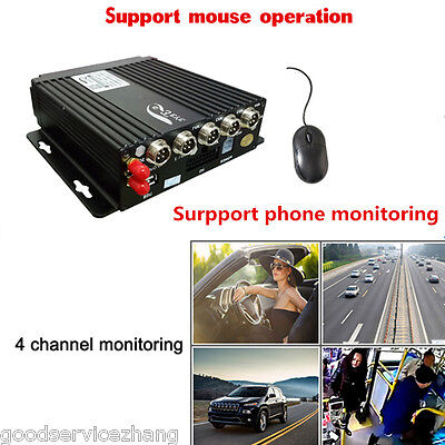 4CH Channel AHD Car Mobile DVR Wireless GPS/BD/G-SENSOR Realtime Video Recorder 16 Channel Active Video