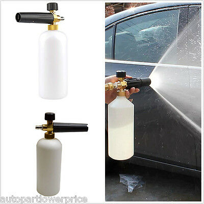 Car High Pressure Cleaning Gun Washer Foam Lance Adapter Jet 1L Washer Bottle