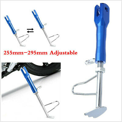 255mm-295mm Adjustable Kickstand Foot Side Stand For Motorcycle Universal Blue