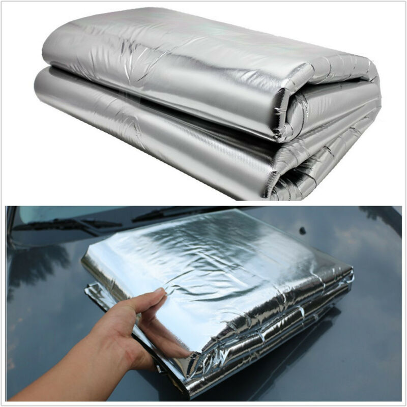 1 Pcs Car SUV Hood Turbo Exhaust Muffler Insulation Engine Heat Shield Mat Pad