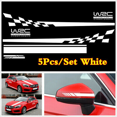 5XCar Side Body Racing Stripe Vinyl Hood Roof Trunk Decals Sticker DIY Universal