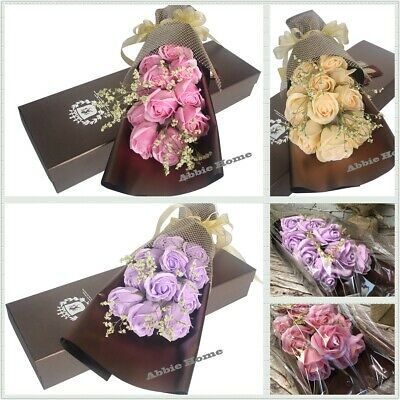 Luxury Scented Rose Bouquet + Gift Box Valentine's Mother's Anniversary Day Gift Rose Bouquet Box