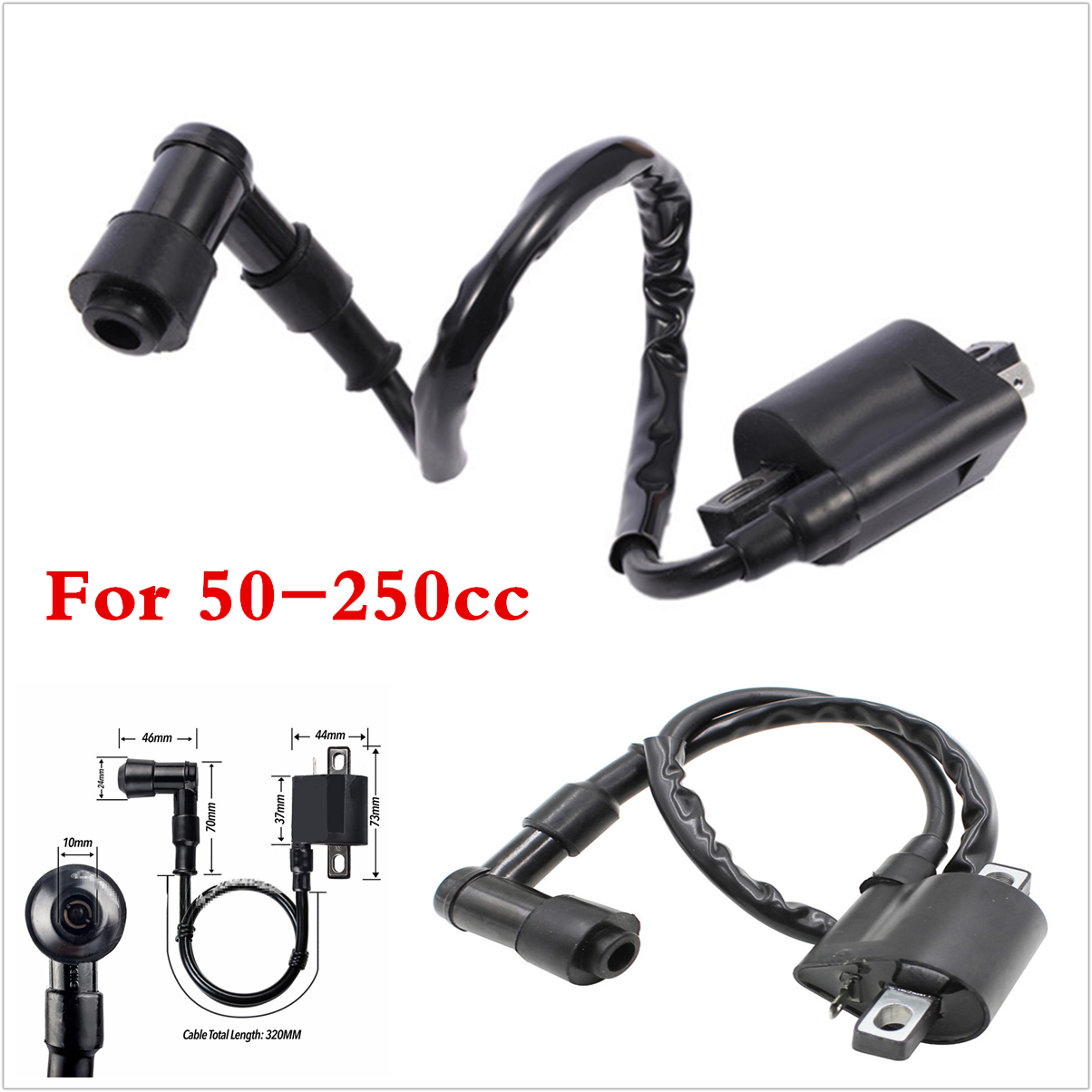 Universal 12V Motorcycles Scooters Coil Ignition For 50 70 110 125 150 200 250cc