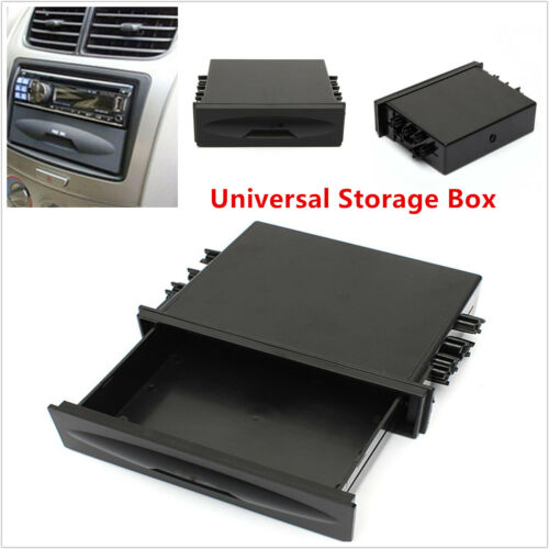 Car Autos Single Din Dashboard Radio Installation Pocket Kit Storage Box Organze