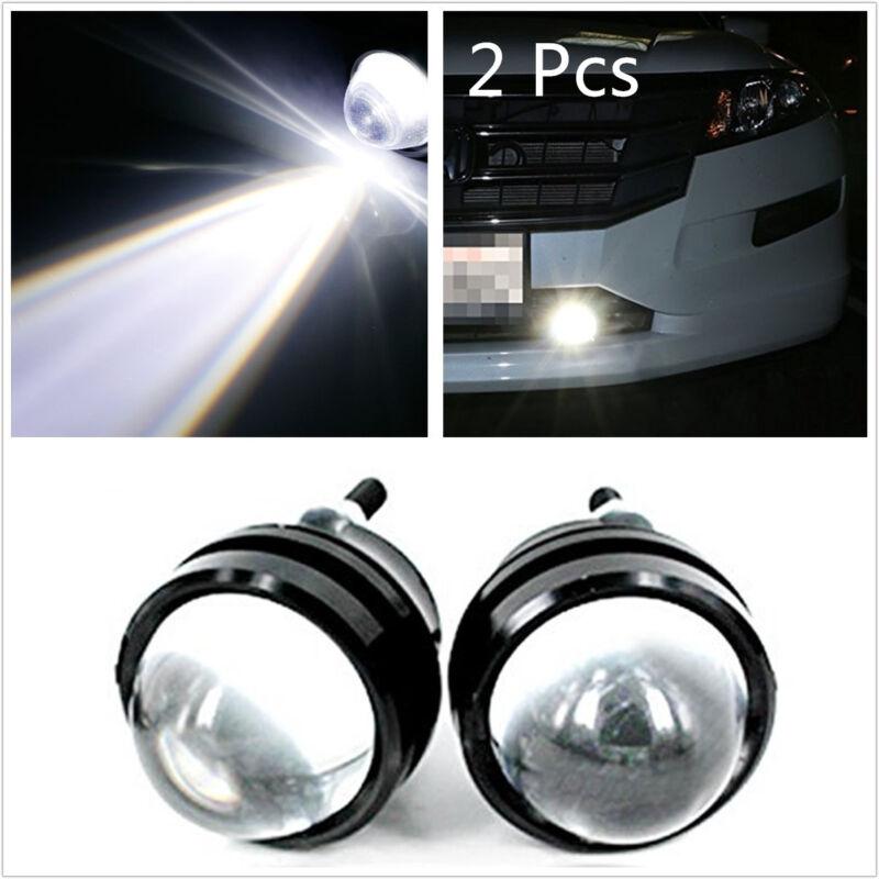 2 Pcs 5W CREE LED Fish Eye White Car Pickup Fog Light DRL Daytime Running Lamps