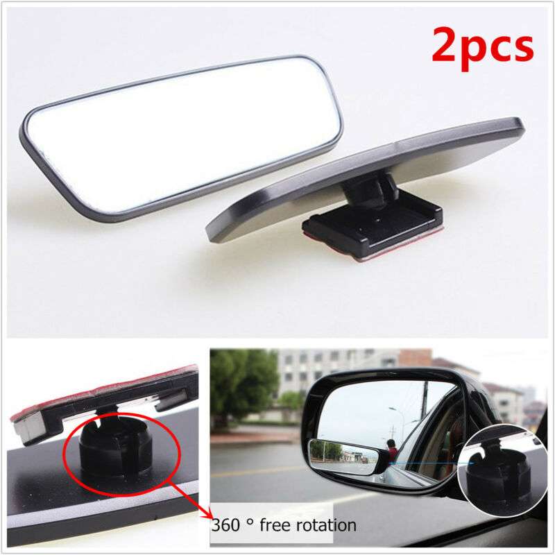 New 2Pcs HD Mirror Rearview Mirror In-car Mirror Car Auxiliary Mirror Adjustable