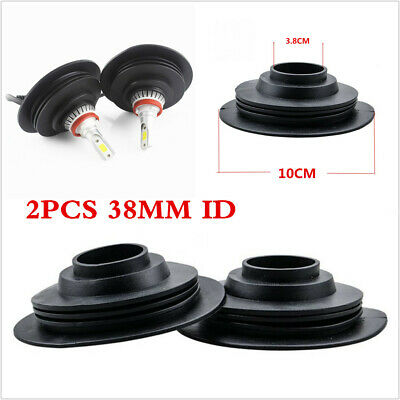 2X 38mm Car LED Headlight Dust Cover Rubber Dustproof Sealing Headlamp Cover Cap