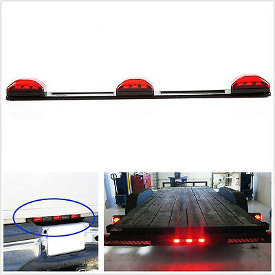Waterproof DC12V Red 9LED Car Off-Road RV Clearance ID Light Bar Tail Brake Lamp