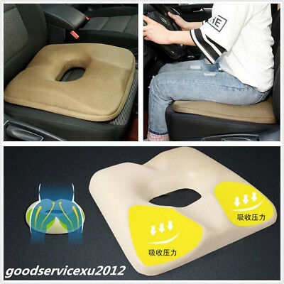 Portable Khaki Car Seats Cover Protect Lower Back Hemorrhoids Health Cushion Pad