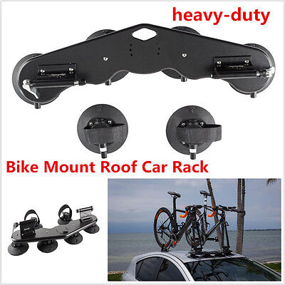 Heavy-Duty 2 Bike Fork Roof Car Truck Rack Bike Rack With 2 Rear Wheel Straps