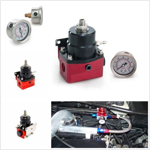 Profession Adjustable Car Fuel Pressure Regulator&Gauge AN Fitting End Universal
