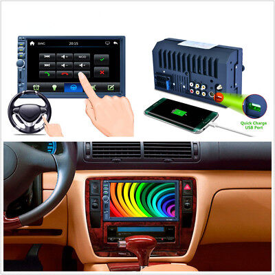 Car 7 2Din HD Touch Screen GPS Navigation Bluetooth Stereo Radio MP5 Player RDS