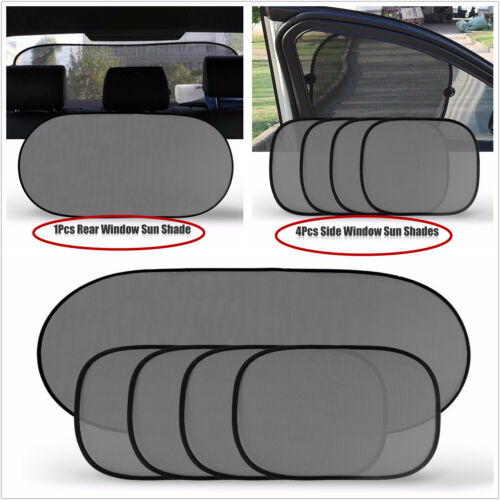5PCS Car Side Rear Window Screen Sun Shade Mesh Cover Windshield Sunshade Visor