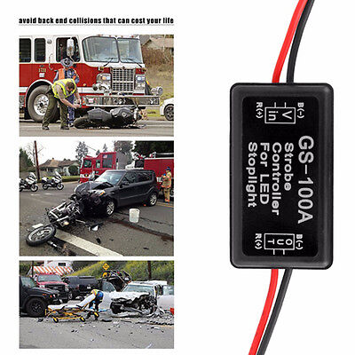 Universal Pair GS 100A LED Brake Stop Light Strobe Flash Module Controller Box