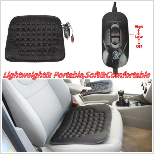 1 Pcs Black Vehicles Off-Road Seat Heated Heater Comfortable Cushion Warm Cover