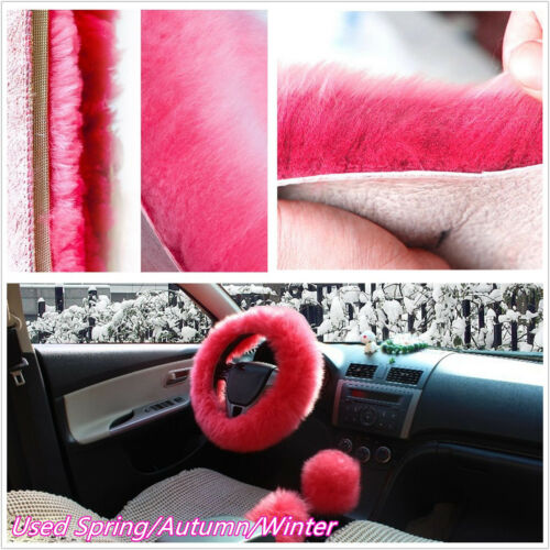 3 Pcs/Set Autos Soft Wool Fur Cover For Steering Wheel/Brake/Gear Knob Shifter
