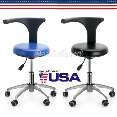 Dental Dentist Doctor Assistant Stool Adjustable Height Mobile Rotation Chair Pu
