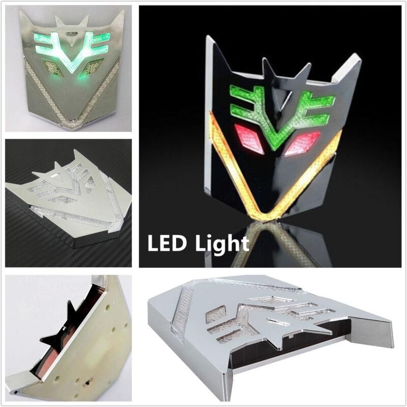 Waterproof Transformers Decepticon Badge Car Decor Sticker Decal Solar LED Light