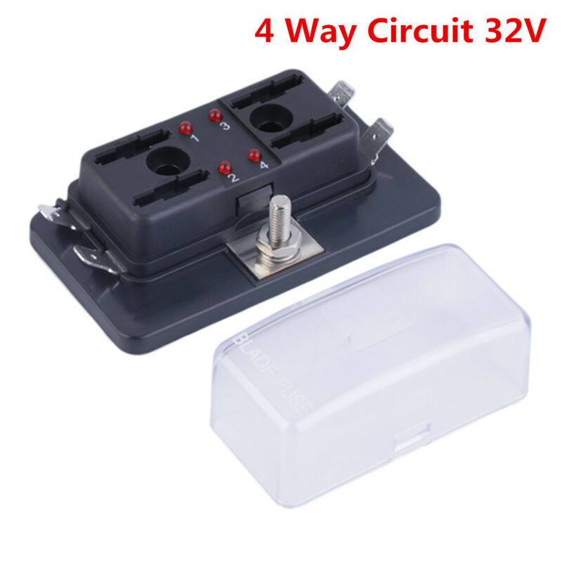 DC32V 4 Way Terminals Circuit Car Auto Boat Blade Fuse Box Block Holder ATC ATO