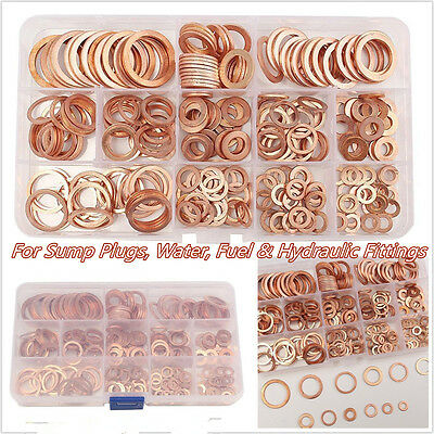 280 X Solid Copper Crush Washers Seal Flat Ring Gasket Kit For Car SUV Truck 4X4