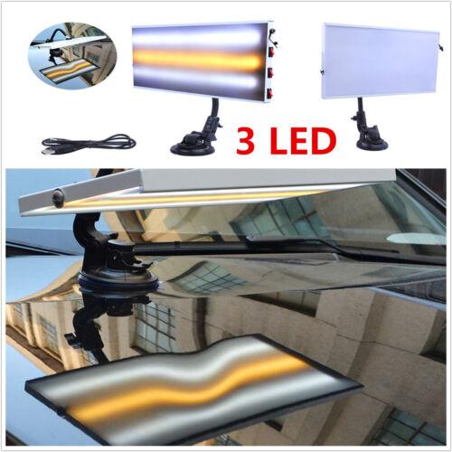 PDR Tool 3 LED Line Board 5V USB Light Paintless Dent Repair Tool Aluminum Alloy