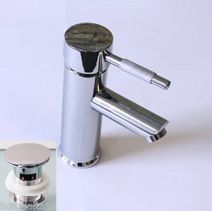 MODERN BATHROOM BASIN-SINK MIXER TAP + POP UP WASTE CHROME (3212/15)
