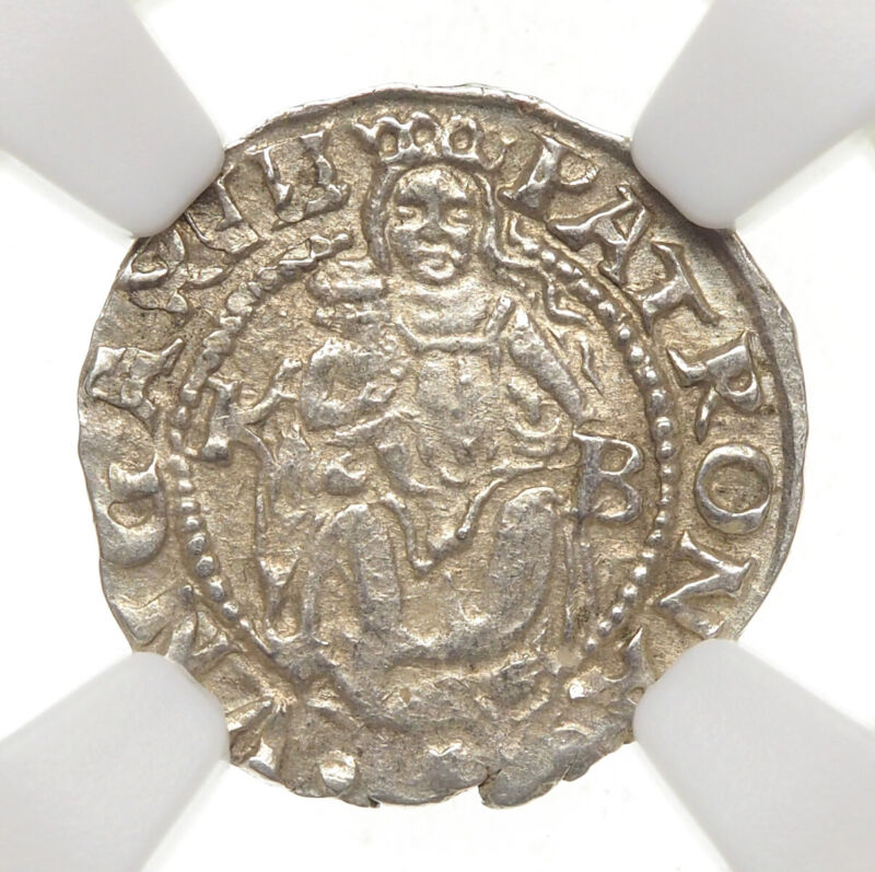 HUNGARY. Ferdinand I Silver Denar, 1553-KB, NGC MS64