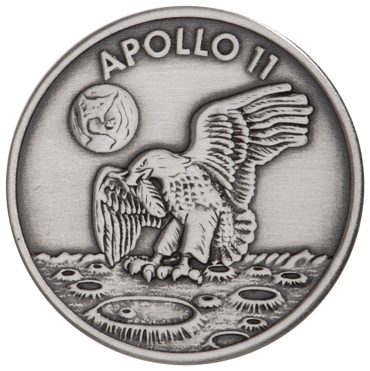 1969-2019 Apollo 11 Robbins Medals 1 oz Silver-Plated Antiqued Medal BU SKU54913