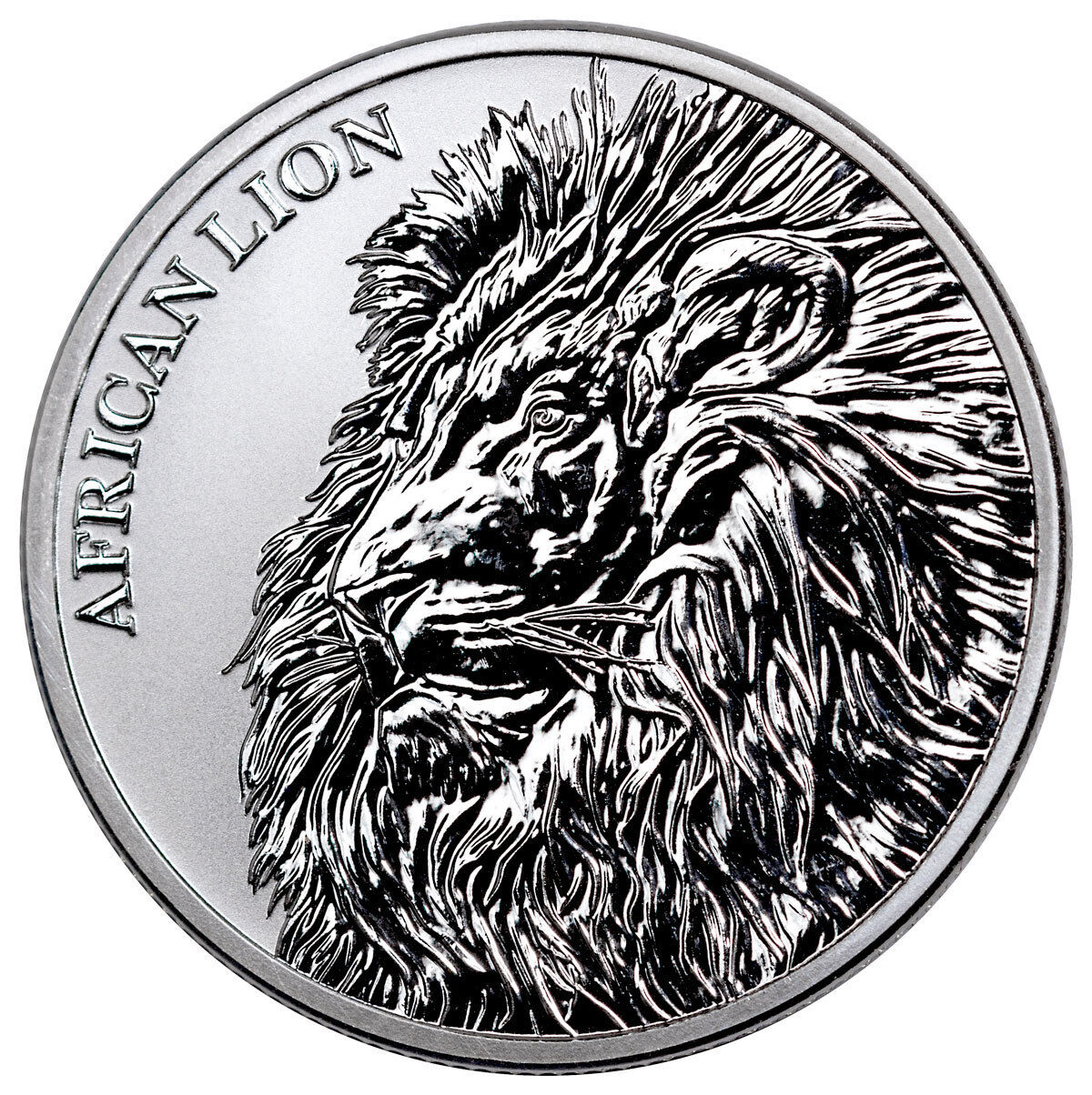 2018 Republic of Chad African Lion 1 oz Silver Fr5,000 Coin BU SKU51641