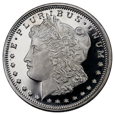 Highland Mint Morgan Dollar Design 1 2 Oz  Silver Round Made U S A Sku26819