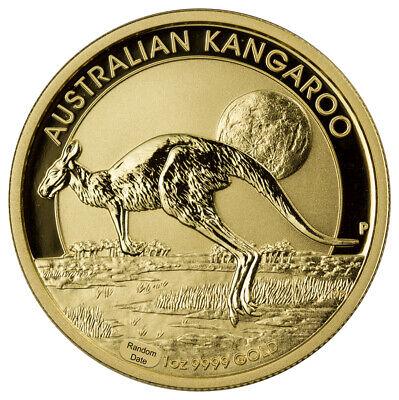Random Date Australia 1 oz Gold Kangaroo $100 Coin GEM BU SKU26127 Australia Gold Coin