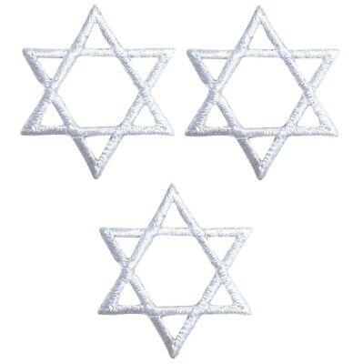 White Star of David Applique Patch - Jewish, Hanukkah 1