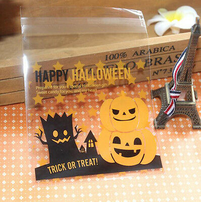 Halloween Party Biscuit Cake Bake Wrapping Gift Pumpkin Candy Plastic Bags DIY - Diy Halloween Gift Bags