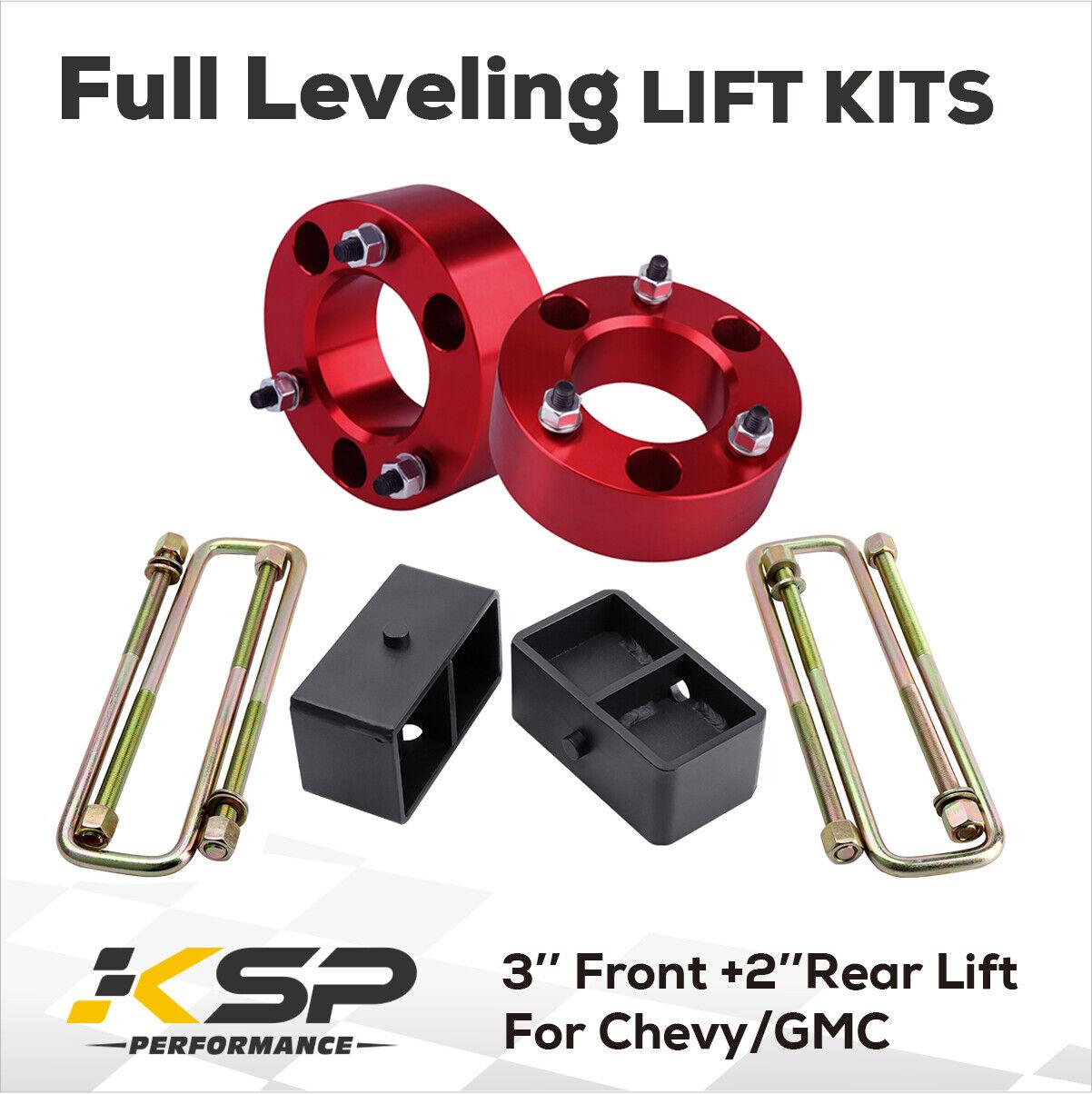 "Chevy Silverado Sierra 1500 2/"" Front 1/"" Rear Full Lift Leveling Kit 07"
