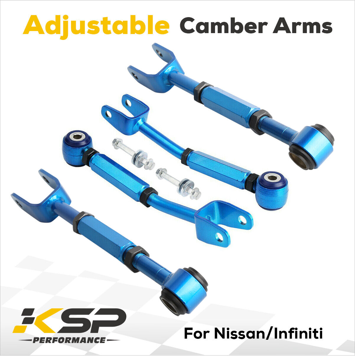 Adjustable Rear Camber Arm Control Arm Kit for Infinity G35 Nissan 350Z Z33
