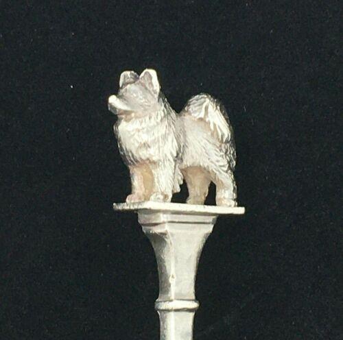 Pomeranian Dog Spoon British Sterling Spoon 12cm