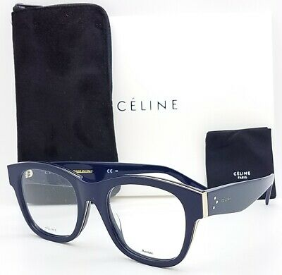NEW Celine Rx Frame CL 41369F AMO 51mm Blue AUTHENTIC Classic Mens Womens (Amos Sunglasses)