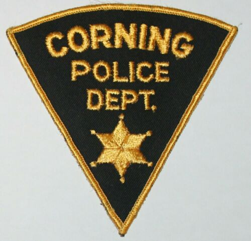 Very Old CORNING POLICE DEPT Tehama County California CA PD Vintage patch